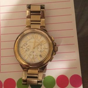 Gold large face Michael Kors ladies watch
